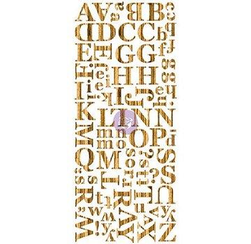 Prima Marketing und Petaloo Placage de bois foncé alphabet, alphabet, bois