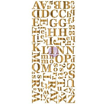 Prima Marketing und Petaloo Wood Veneer Alphabets Dark, holzes Alfabet