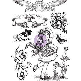 Prima Marketing und Petaloo Gummi motiv stempel, Prinsesse