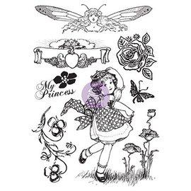 Prima Marketing und Petaloo Rubber motif stamp, Princess