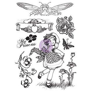 Prima Marketing und Petaloo Gummi Motivstempel, Princess - LETZTES Verfügbar