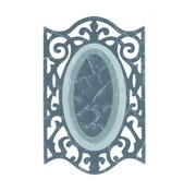 Sizzix Framelits Sæt med 3 Mønstre, oval m / jernbeslag Edges