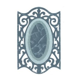 Sizzix Framelits Set with 3 Patterns, Oval w / Ironwork Edges