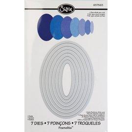 Sizzix Framelits Sett med 7 sjablonger, Oval Box