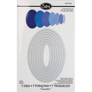 Sizzix Framelits Set van 7 stencils, ovale doos
