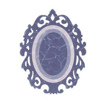 Sizzix Framelits Set mit 3 Schablonen, Oval w/Ornate Edges