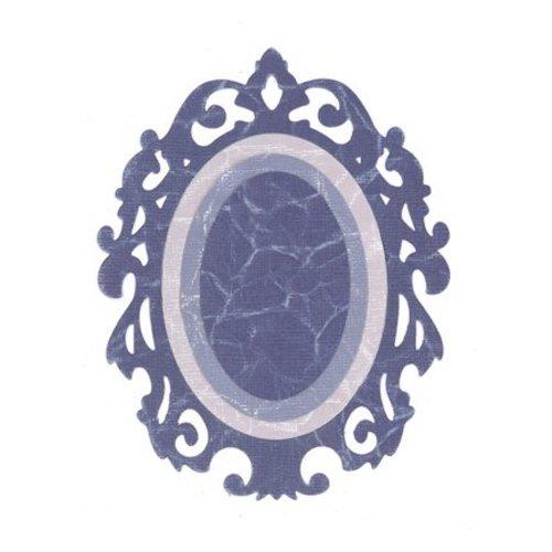 Sizzix Framelits Set with 3 Patterns, Oval w / Ornate Edges