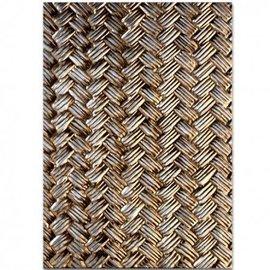 Spellbinders und Rayher 3D stencil goffratura, M-Bossabilities, Basket Weave.