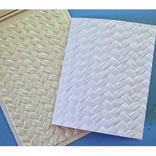Spellbinders und Rayher 3D reliëf stencil, M-Bossabilities, Weefsel, 12,7 x 17,8 cm, 1 ontwerpen.