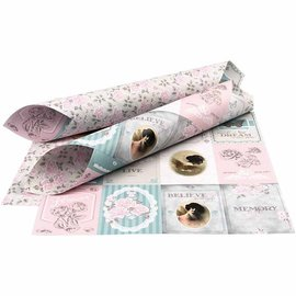 Karten und Scrapbooking Papier, Papier blöcke Dobbeltsidet trykt designerpapir, ark 30,5x30,5 cm, 1 ark, 120 gr