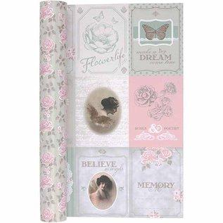 Karten und Scrapbooking Papier, Papier blöcke Dubbelzijdig bedrukt designpapier, vel 30,5x30,5 cm, 1 vel, 120 gr