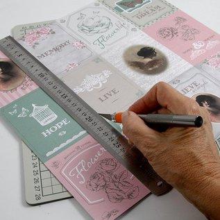 Karten und Scrapbooking Papier, Papier blöcke Doppelseitig bedrucktes Designer Papier, Blatt 30,5x30,5 cm,1 Blatt, 120 gr