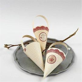 Komplett Sets / Kits 10 kegel decoratie, H: 13 cm hoog