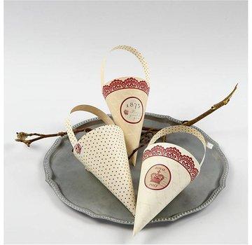 Komplett Sets / Kits 10 cono decorazione, H: 13 cm di altezza