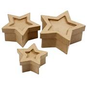 Objekten zum Dekorieren / objects for decorating 3 boîtes en forme d'étoile