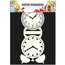 Dutch DooBaDoo Card Art - Schablone eine Standuhr