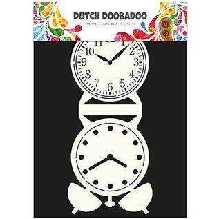Dutch DooBaDoo Card type - template a grandfather clock