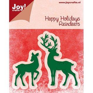 Joy!Crafts / Jeanine´s Art, Hobby Solutions Dies /  Joy Crafts, stempelen en embossing folder, rendieren