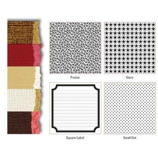 Designer Papier Scrapbooking: 30,5 x 30,5 cm Papier Premium Color Core karton