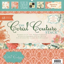 DCWV und Sugar Plum Bloque Diseñador, Coral Couture Papel Pila