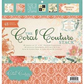 DCWV und Sugar Plum bloc Designer, Coral Couture pile de papier