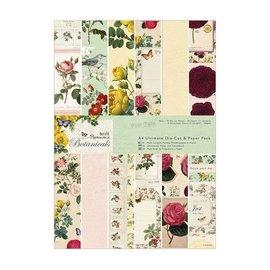 Karten und Scrapbooking Papier, Papier blöcke Designerblock, A4, 47 Blatt mit zauberhaften Designs, Botanicals - LETZE vorrätig!