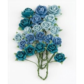 BLUMEN (MINI) UND ACCESOIRES Marianne Design Paper Roses Bright Blue