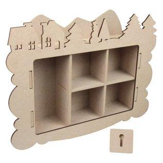 Objekten zum Dekorieren / objects for decorating Handwerk Kits MDF, Winter decoratie