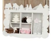 Objekten zum Dekorieren / objects for decorating Tricot Kits MDF, boîte de collecte, d'hiver décoration