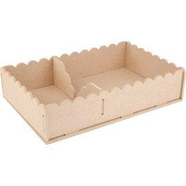 Objekten zum Dekorieren / objects for decorating Tricot Kits MDF, serviettes de conteneurs 29 x 19 x 6 cm