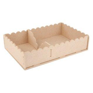 Objekten zum Dekorieren / objects for decorating Handcraft Kits MDF, container napkins 29 x 19 x 6cm