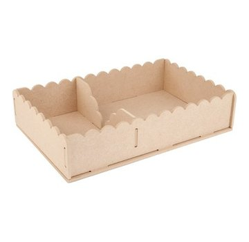 Objekten zum Dekorieren / objects for decorating Artigianato Kit MDF, tovaglioli contenitore 29 x 19 x 6 centimetri