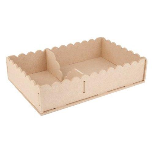 Objekten zum Dekorieren / objects for decorating Handwerk Kits MDF, container servetten 29 x 19 x 6cm