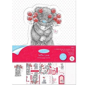"Me to You Kit de bricolage pour A4 Glitter carte de Me to You ""With Love"""