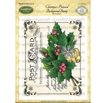 JUSTRITE AUS AMERIKA Justrite Natale Cartolina Sfondo Cling Stamp