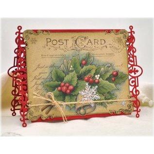 JUSTRITE AUS AMERIKA Justrite Kerstmis Wens Kaart Achtergrond Cling Stamp
