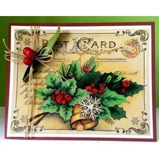 JUSTRITE AUS AMERIKA Justrite Christmas Post Card Background Cling Stamp
