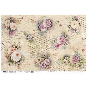 DECOUPAGE AND ACCESSOIRES Soft paper 50x70cm - Romance