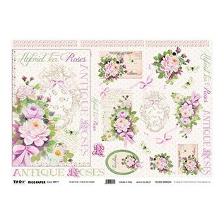 DECOUPAGE AND ACCESSOIRES Rice Paper 35 x 50cm - Hybrid Tea Roses