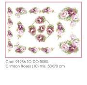 DECOUPAGE AND ACCESSOIRES Papier doux 50x70cm - Roses Crimson