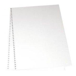 BASTELZUBEHÖR, WERKZEUG UND AUFBEWAHRUNG Cardboard cover for album, 22x30, 5 cm, 2 pcs in bag, white