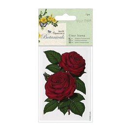 Docrafts / Papermania / Urban Transparent Stempel, Rose (Botanicals), zurück vorrätig!