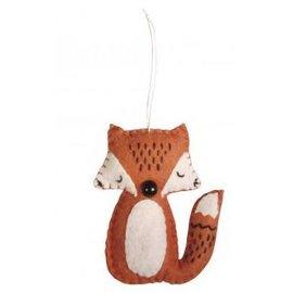 Spellbinders und Rayher Kit complet: 2 jolis renards en feutre