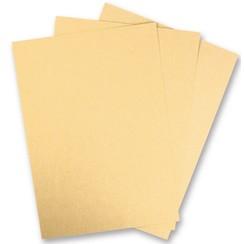 5 ark Metallic pap, Ekstra KLASSE, i strålende guld farve! Ideel til presning og stansning!