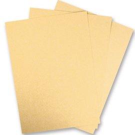 Karten und Scrapbooking Papier, Papier blöcke 5 ark Metallic pap, Ekstra KLASSE, i strålende guld farve! Ideel til presning og stansning!