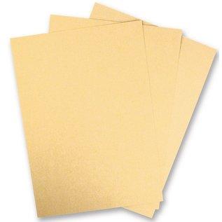 Karten und Scrapbooking Papier, Papier blöcke 5 Bogen Metallic Karton, Extra KLASSE, in brilliant gold farbe! Ideal zum Prägen und Stanzen!