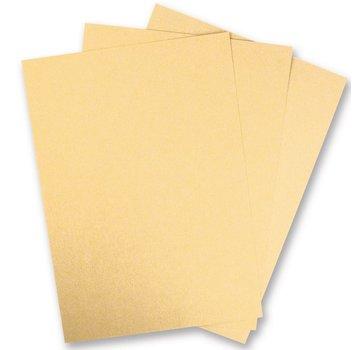 Karten und Scrapbooking Papier, Papier blöcke 5 feuilles en carton métallisé, superfine, couleur brillante d'or! Idéal pour matriçage et estampage!