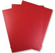 Karten und Scrapbooking Papier, Papier blöcke 5 sheets Metallic Cardboard, Extra CLASS, in brilliant red color!