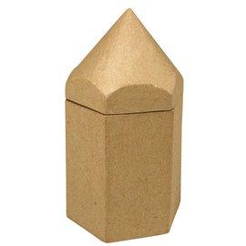 Objekten zum Dekorieren / objects for decorating Contenedores hexagonales de papel maché, lápiz, 9x8x16 cm