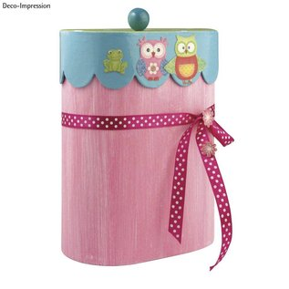 Objekten zum Dekorieren / objects for decorating Papier mache container, Jacobsschelp, 8x13x16 cm, ovaal, met deksel